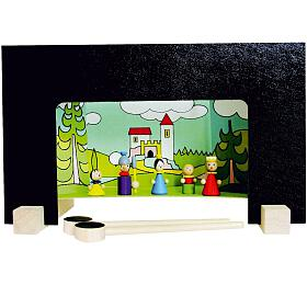 Divadlo Hrad Detoa magnetické dřevěné s figurkami v krabici 33,5x20x3,5cm - Detoa