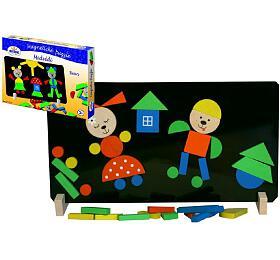 Magnetické puzzle Medvědi v krabici 33x23x3,5cm - Detoa