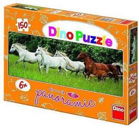 Puzzle Bežící koně 150d. PAN - Dino hračky