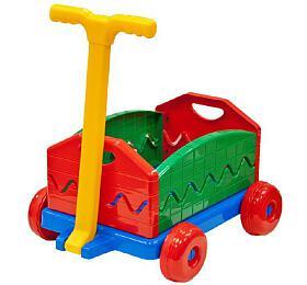 Vozík/Vlečka plast 40x32x20cm rozkládací s rukojetí - Lena