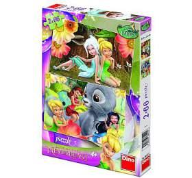 Puzzle Zvonilka/Fairies 32,3x22cm 2x66 dílků v krabici 23x34x4cm - Dino hračky