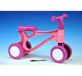 Odrážedlo Rolocykl růžový plast výška sedadla 26cm od 18 měsíců - Lena
