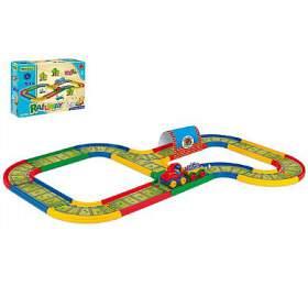 Dráha Kid Cars Železnice 3,1m v krabici 39x29x14cm 12m+ Wader - Wader