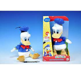Donald plyš 26cm sedící na baterie se zvukem v krabici od 18 měsíců - Teddies