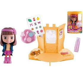 Panenka Cocodels Novi plast 16cm s pokojíčkem + make-up doplňky v krabičce - Teddies