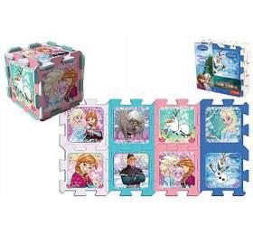 Pěnové puzzle Ledové království/Frozen 32x32x1cm 8ks v sáčku - Wader