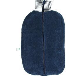 Ohřívací láhev Bio Marine s modrým obalem na zip, termofor Hugo Frosch Eco Classic Comfort - HUGO-FROSCH