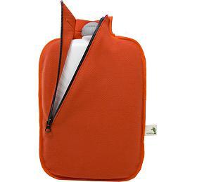 Termofor Hugo Frosch Eco Classic Comfort se softshellovým obalem na zip – oranžový - HUGO-FROSCH