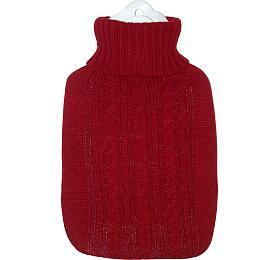 Termofor Hugo Frosch Classic s červeným pleteným obalem - HUGO-FROSCH
