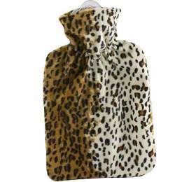 Termofor Hugo Frosch Classic s fleecovým leopardím obalem – uvnitř podšívka - HUGO-FROSCH
