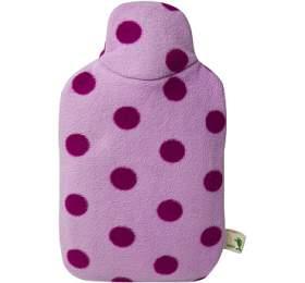 Dětský termofor Hugo Frosch Eco Junior Comfort s růžovým fleecovým obalem - HUGO-FROSCH