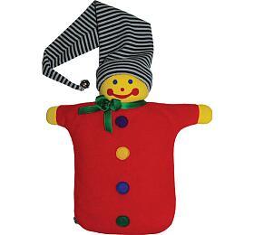 Dětský termofor Hugo Frosch Eco Junior Comfort – plyšový maňásek kašpárek - HUGO-FROSCH