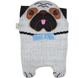 Dětský termofor Hugo Frosch Eco Junior Comfort - pes MOPS - HUGO-FROSCH