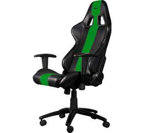 Herní křeslo C-TECH PHOBOS (GCH-01G), pro gaming, černo-zelené - C-Tech