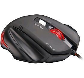 Myš C-Tech Akantha / optická / 6 tlačítek / 2400dpi - černá/červená - C-Tech