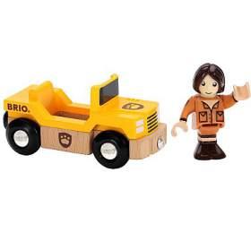 Safari auto s panáčkem BRIO - BRIO