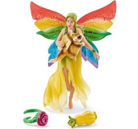Duhová elfí víla Meena s létající veverkou SCHLEICH - SCHLEICH