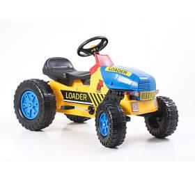 Hračka G21 Šlapací traktor Classic žluto/modrý - G21