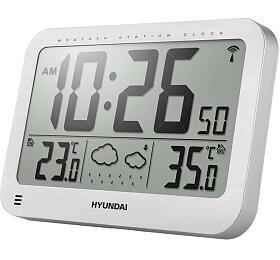 Meteostanice Hyundai WS 2331, velké hodiny, stříbrná - Hyundai