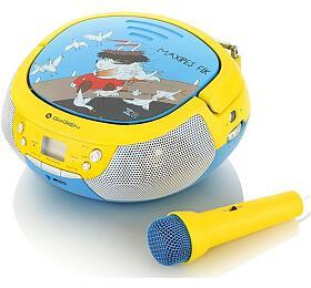 Radiopřijímač GoGEN MAXIPREHRAVAC B s CD/MP3/USB, modrá/žlutá - GoGEN