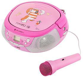 Radiopřijímač GoGEN MAXIPREHRAVAC P s CD/MP3/USB, růžová/purpurová - GoGEN