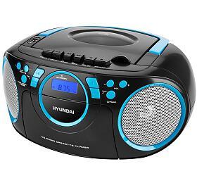 Radiomagnetofon Hyundai TRC 788 AU3BBL s CD/MP3/USB, černá/modrá - Hyundai
