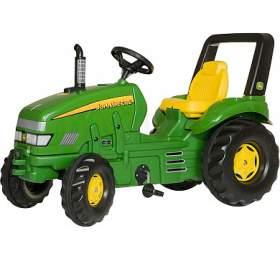 Šlapací traktor X-Trac John Deere - zelený ROLLYTOYS - ROLLYTOYS