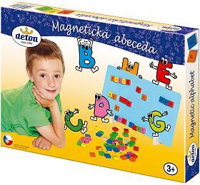 Magnetická abeceda dřevo 75ks v krabici 33x23x3,5cm - Detoa