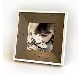 Hnědý lemovaný fotorámeček - Albi