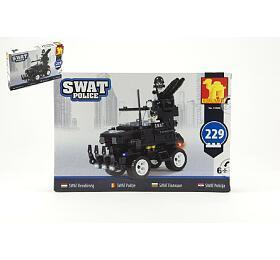 Stavebnice Dromader SWAT Policie Auto 229ks plast v krabici 32x21,5x5cm - Teddies