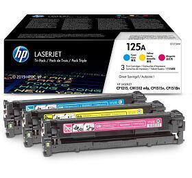 HP 125A trojbalení - azurová, purpurová, žlutá (CF373AM) - HP