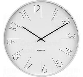 Designové nástěnné hodiny 5607WH Karlsson 40cm - Karlsson