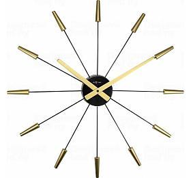 Designové nástěnné hodiny 2610go Nextime Plug Inn gold 60cm - NeXtime