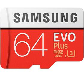 Samsung micro SDXC 64GB EVO Plus + SD adaptér (MB-MC64GA/EU) - Samsung