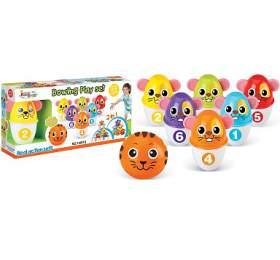 Hračka G21 Kuželky s koulí barevné myšky - G21