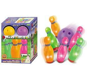 Hračka G21 Kuželky s koulí barevné, svítící - G21