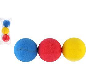 Soft míč na softtenis pěnový průměr 7cm 3ks v sáčku - LORI