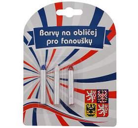 Barvy na obličej ČR 4 tužky SportTeam - SportTeam
