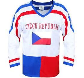 Hokejový dres ČR 7 SportTeam, bílý, vel. L - SportTeam