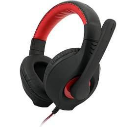 Herní sluchátka C-TECH Nemesis V2 (GHS-14R), casual gaming, černo-červená - C-Tech