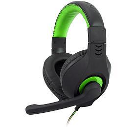 Herní sluchátka C-TECH Nemesis V2 (GHS-14G), casual gaming, černo-zelená - C-Tech