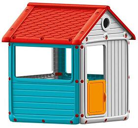Dětský zahradní domeček, plastový, modrý DOLU - Dolu