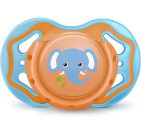 Dudlík Bayby BPC 6315 oranžovomodrý 6m+ - BAYBY