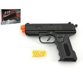 Pistole se zásobníkem na kuličky 17cm + kuličky plast v krabici - Teddies