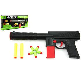 Pistole na pěnové náboje 2ks + špuntovka 5ks plast 30cm v krabici - Teddies