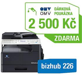 Konica Minolta Bizhub 226 set1 (DF-625+AD-509+MK-749+NC-504) + OMV poukaz 2500Kč (A8A50211) - Minolta