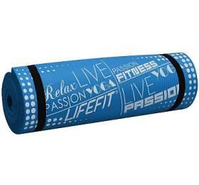 Podložka LIFEFIT YOGA MAT EXKLUZIV PLUS, 180x60x1,5cm, modrá - LIFEFIT