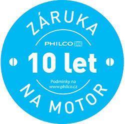 Philco - 10 let ZÁRUKA NA MOTOR