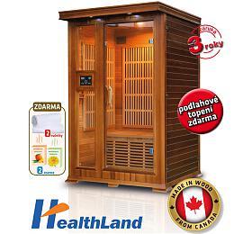 Sauna HealthLand DeLuxe 2022 Cedr Carbon - HealthLand