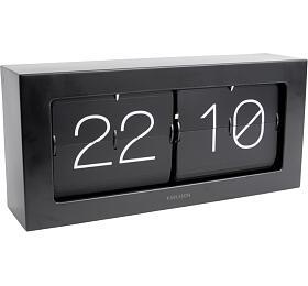 Designové nástěnné/stolní překlápěcí hodiny 5642BK Karlsson 37cm - Karlsson